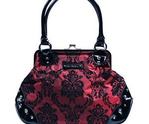 damask, victorian, and handbag image