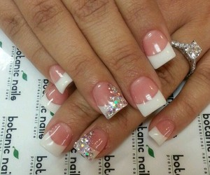 nails, french manicure, and white nails image