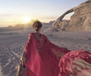 travel, desert, and pink image