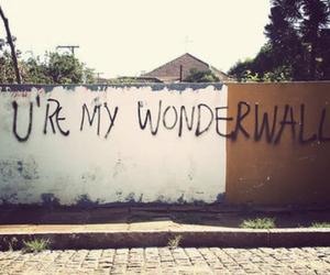 wonderwall, oasis, and wall image