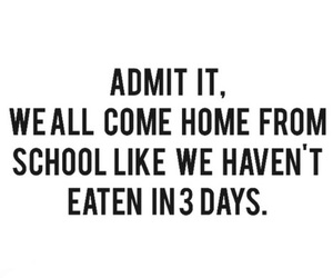 food, school, and eat image