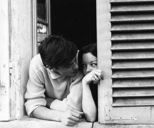 love, couple, and Alain Delon image