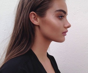 beauty, brunette, and contour image