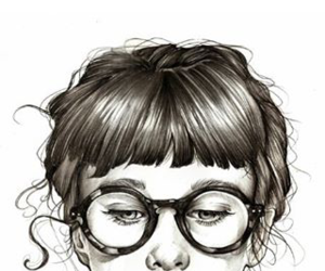 draw, glases, and glasses image