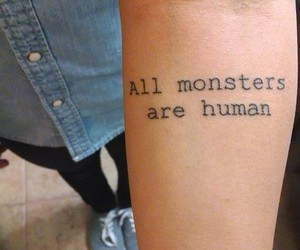 tattoo and all monsters are human image
