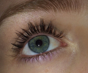 aesthetic, eyes, and green image