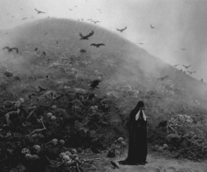 death, dark, and black and white image