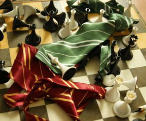 chess, gryffindor, and harry potter image
