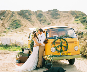 hippy, vintage, and wedding photo image