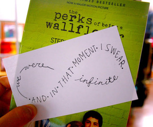 book, infinite, and the perks of being a wallflower image