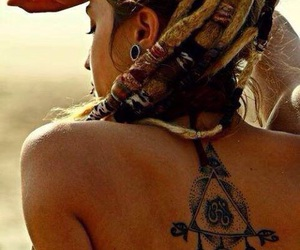 dread locks, tattoo, and dreads image
