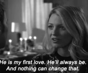 love, gossip girl, and first love image