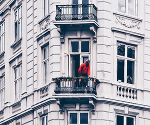 red, vintage, and window image