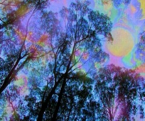 tree, psychedelic, and wallpaper image