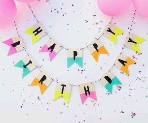birthday, happy birthday, and balloons image