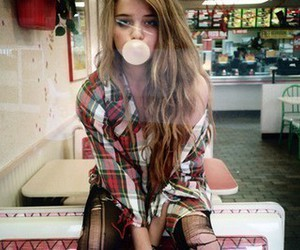 bubble gum, fashion, and girl image