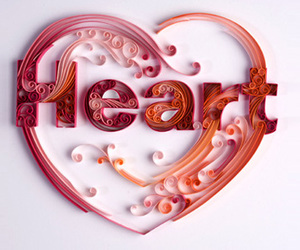 heart, Paper, and red image