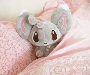 kawaii, pink, and plushie image