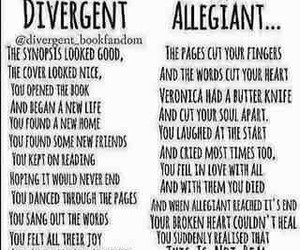 divergent, allegiant, and books image