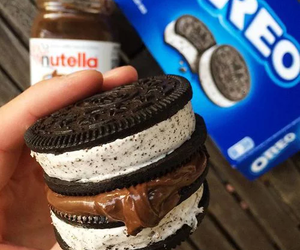 oreo, food, and nutella image