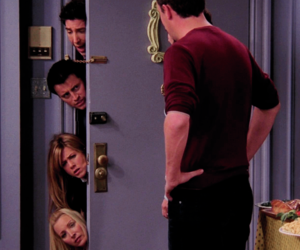 chandler bing, joey tribbiani, and phoebe buffay image