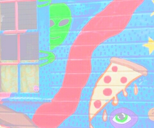 alien, pizza, and tumblr image