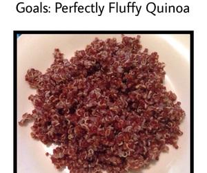 goals, healthy, and quinoa image