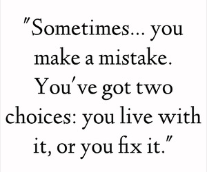 life, quote, and mistake image