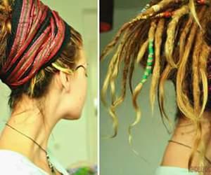 dreadlocks, girl, and hairstyle image
