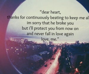 broken, broken heart, and city lights image