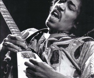 60s, guitar, and Jimi Hendrix image