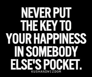 quotes, happiness, and key image