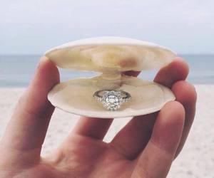 ring, beach, and diamond image