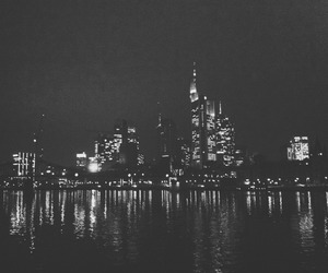 black and white, city, and faded image