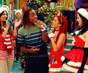 ariana grande, victorious, and christmas image