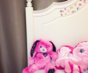 dolls, pink, and room image