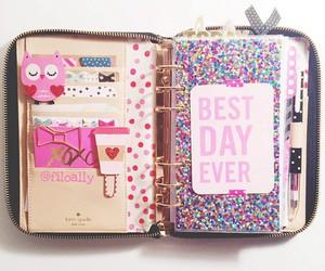 notebook, diy, and school image