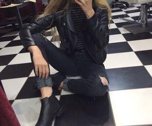 black, blonde, and grunge image
