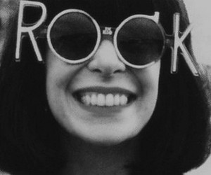 rock, smile, and glasses image