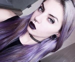 girl, hair, and choker image