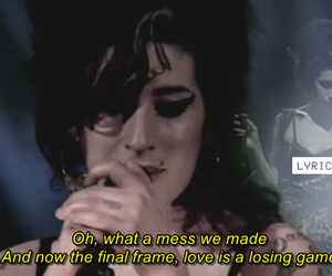 Amy Winehouse, Love Is A Losing Game, and back to black image