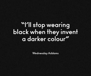 black and wednesday addams image