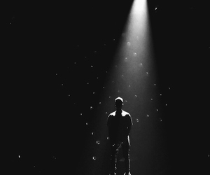 justin bieber, black and white, and what do you mean image