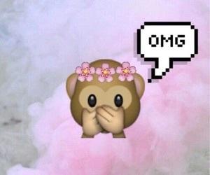OMG, emoji, and monkey image