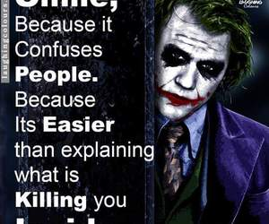 joker, smile, and quotes image