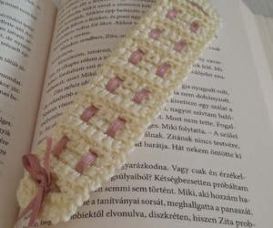 bookmark, books, and crochet image