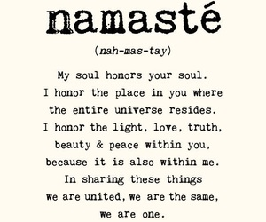 namaste, quotes, and soul image