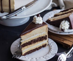 buttercream, mousse, and cake image