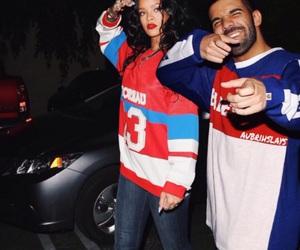 rihanna, Drake, and couple image