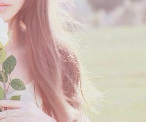 flowers, girl, and kfashion image